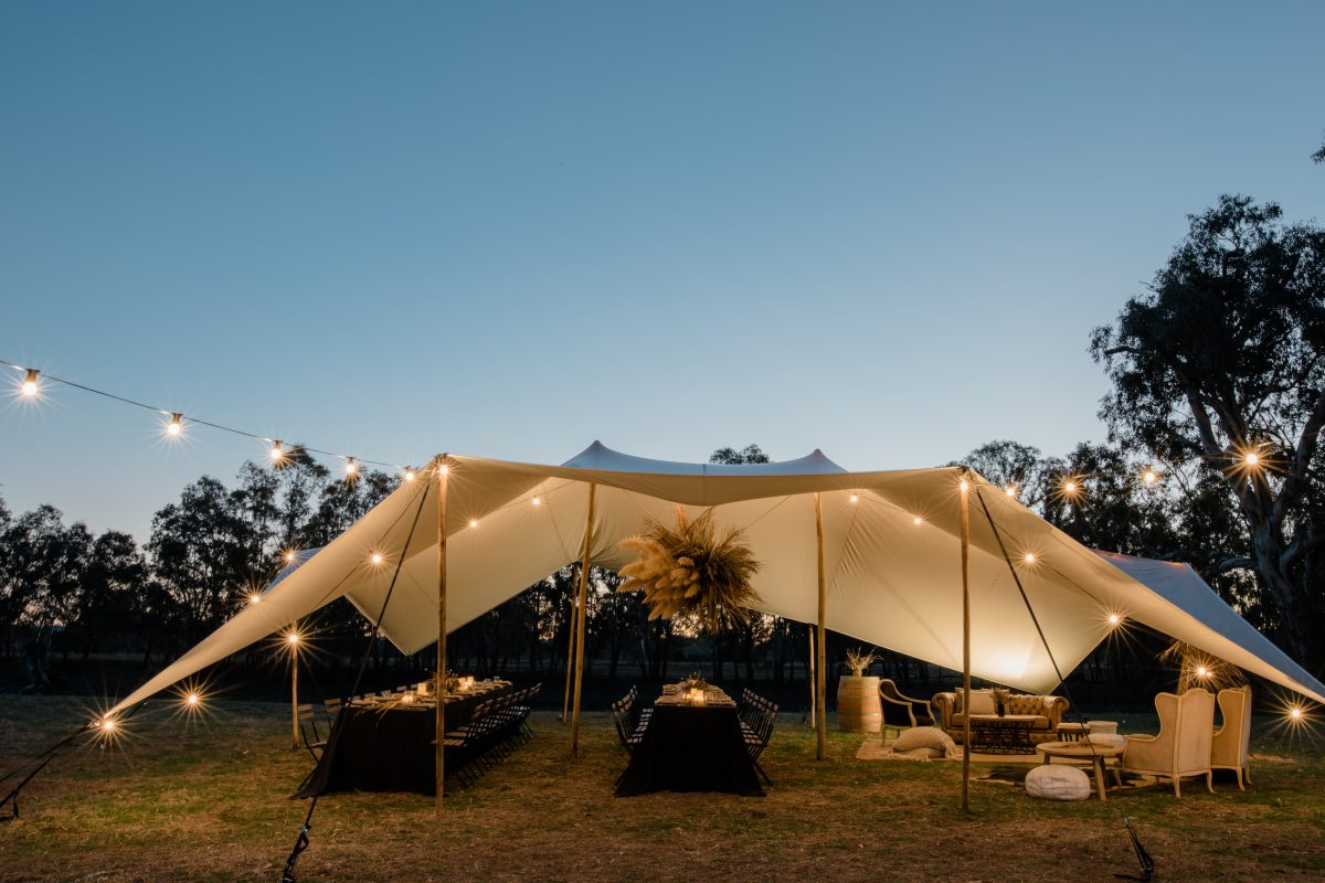 Bedouin Stretch Tent : : Albury Weddings : : Rutherglen Wedding Photographer